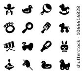 solid vector icon set   baby... | Shutterstock .eps vector #1066616828