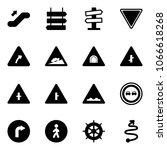 solid vector icon set  ... | Shutterstock .eps vector #1066618268