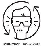 virtual reality headgear   icon ... | Shutterstock .eps vector #1066619930