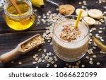 fresh homemade nutritional... | Shutterstock . vector #1066622099