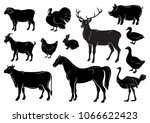 Farm Animals Icons Set....