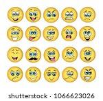 vector emoticons emoji set....   Shutterstock .eps vector #1066623026
