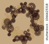 outline simple mandalas. ethnic ... | Shutterstock .eps vector #1066625318