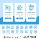onboarding app screens of data... | Shutterstock .eps vector #1066626323