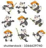 set of vector cartoon... | Shutterstock .eps vector #1066629740