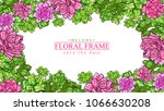 beautiful melody floral frame... | Shutterstock .eps vector #1066630208