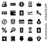 flat vector icon set   bank... | Shutterstock .eps vector #1066636109