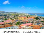 aerial view of the old... | Shutterstock . vector #1066637018