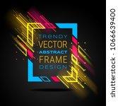 vector modern frame with... | Shutterstock .eps vector #1066639400
