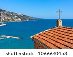 church roof with cross... | Shutterstock . vector #1066640453
