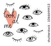 look at me print. modern set...   Shutterstock .eps vector #1066644413