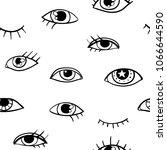 modern seamless pattern with... | Shutterstock .eps vector #1066644590