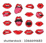 lip set.lips and mouth vector... | Shutterstock .eps vector #1066644683