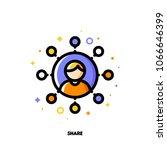 global social media data... | Shutterstock .eps vector #1066646399