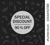 special sale banner  discount...   Shutterstock .eps vector #1066646588