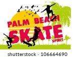 skate beach   Shutterstock .eps vector #106664690
