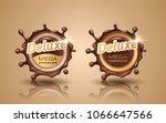set of deluxe design labels in... | Shutterstock .eps vector #1066647566