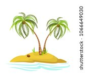 illustration of a palm tree on... | Shutterstock .eps vector #1066649030