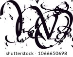 distressed background in black...   Shutterstock .eps vector #1066650698