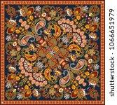 vector ornament paisley bandana ... | Shutterstock .eps vector #1066651979