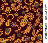 a simple floral pattern ... | Shutterstock .eps vector #1066651994