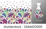 seamless vertical fantasy... | Shutterstock .eps vector #1066652000