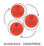3 steps linear business... | Shutterstock .eps vector #1066654826