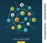 abstract social media... | Shutterstock .eps vector #1066656683