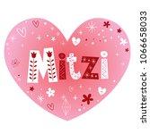 mitzi   very lovely feminine...   Shutterstock .eps vector #1066658033
