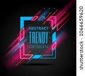 vector modern frame with... | Shutterstock .eps vector #1066659620