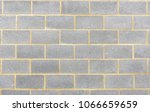section of breeze block wall...   Shutterstock . vector #1066659659