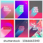 cool words card poster with... | Shutterstock .eps vector #1066663340