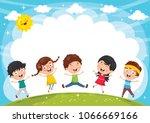 vector illustration of funny... | Shutterstock .eps vector #1066669166