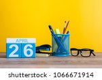 april 26th. day 26 of month ... | Shutterstock . vector #1066671914