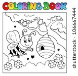 coloring book bugs theme image... | Shutterstock .eps vector #106667444