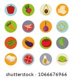 fresh vegetables organic and... | Shutterstock .eps vector #1066676966