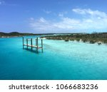 solitary dock in the middle of... | Shutterstock . vector #1066683236