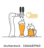 cheers my friend. isolated... | Shutterstock .eps vector #1066685960