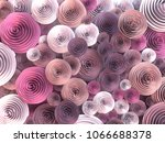 abstract illustration of paper... | Shutterstock . vector #1066688378