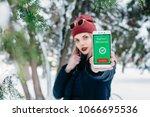 winter  christmas  technologies ... | Shutterstock . vector #1066695536