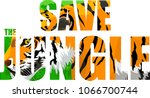 vector tropical rainforest...   Shutterstock .eps vector #1066700744