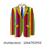 vector illustration of striped... | Shutterstock .eps vector #1066702943