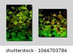 dark green  yellowvector banner ...