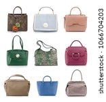 women color handbags isolated... | Shutterstock . vector #1066704203