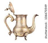 antique teapot on white... | Shutterstock . vector #106670549