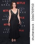 """Small photo of LOS ANGELES - APR 09: Molly Parker arrives to the premiere of Netflix's """"Los In Space"""" on April 9, 2018 in Hollywood, CA"""