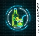 neon sign of tequila bar with... | Shutterstock .eps vector #1066708058