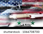 concept of conflict in syria....   Shutterstock . vector #1066708700