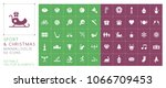 set of 50 universal sport and... | Shutterstock .eps vector #1066709453