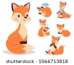 fox character doing different... | Shutterstock .eps vector #1066713818